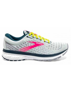 RUNNING SHOES BROOKS GHOST 13 BLUE AND PINK FOR WOMEN'S