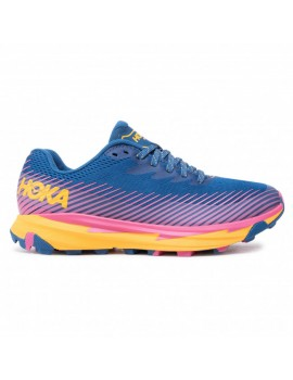 TRAIL RUNNING SHOES HOKA ONE ONE TORRENT 2 BLUE AND ORANGE FOR WOMEN'S