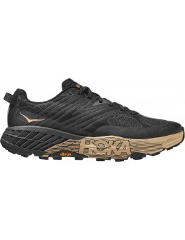 TRAIL RUNNING SHOES HOKA ONE ONE SPEEDGOAT 4 BLACK AND GOLDFOR WOMEN'S