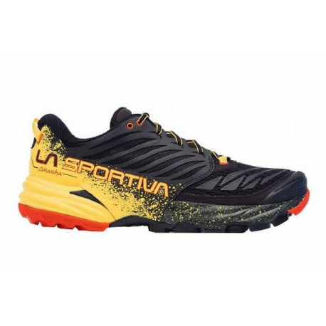 TRAIL RUNNING SHOES LA SPORTIVA AKASHA BLACK AND YELLOW FOR MEN'S