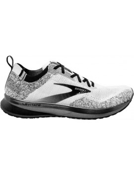 RUNNING SHOES BROOKS LEVITATE 4 WHITE AND BLACK FOR MEN'S