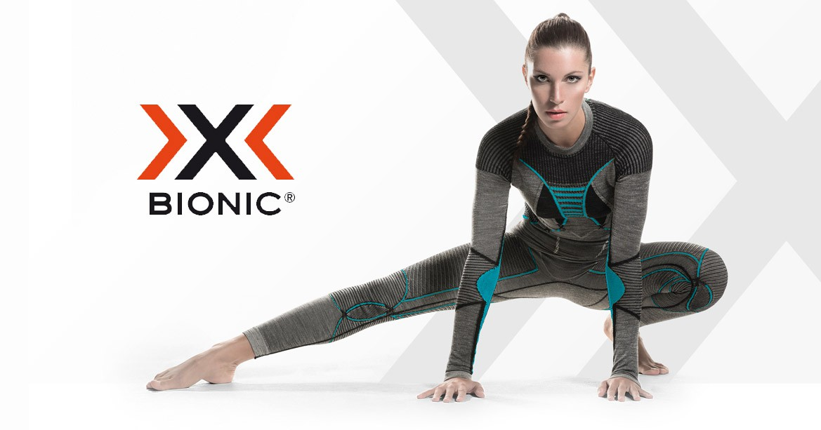 Multisports underwear X-Bionic for women's and for men's.