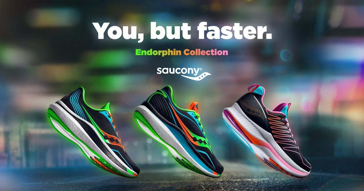 Saucony running shoes.
