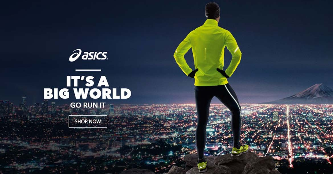Asics running shoes.